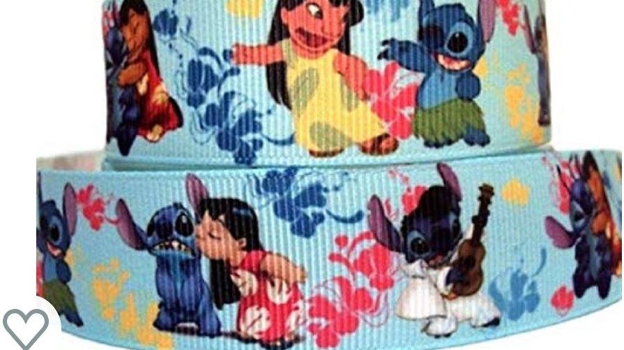 """1"""" Collar,Martingale,or Leash Lilo & Stitch"""
