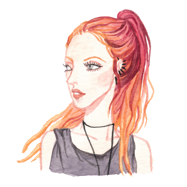 Girl With Pink Hair.tif