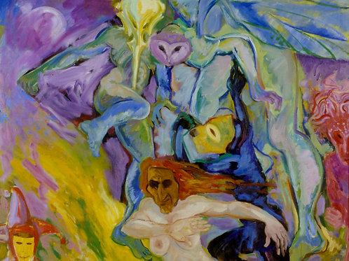 Masquerading, Oil on Canvas, 156cm x 186cm