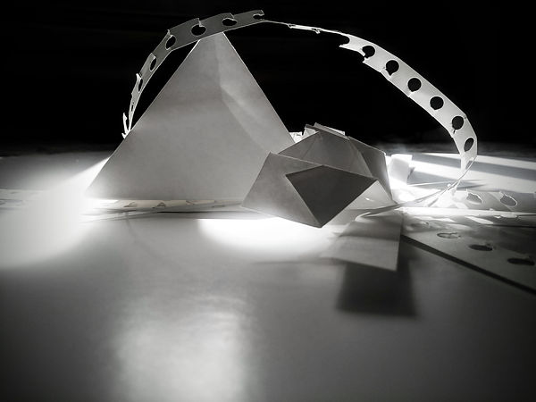 Paper compositions - shadow and light