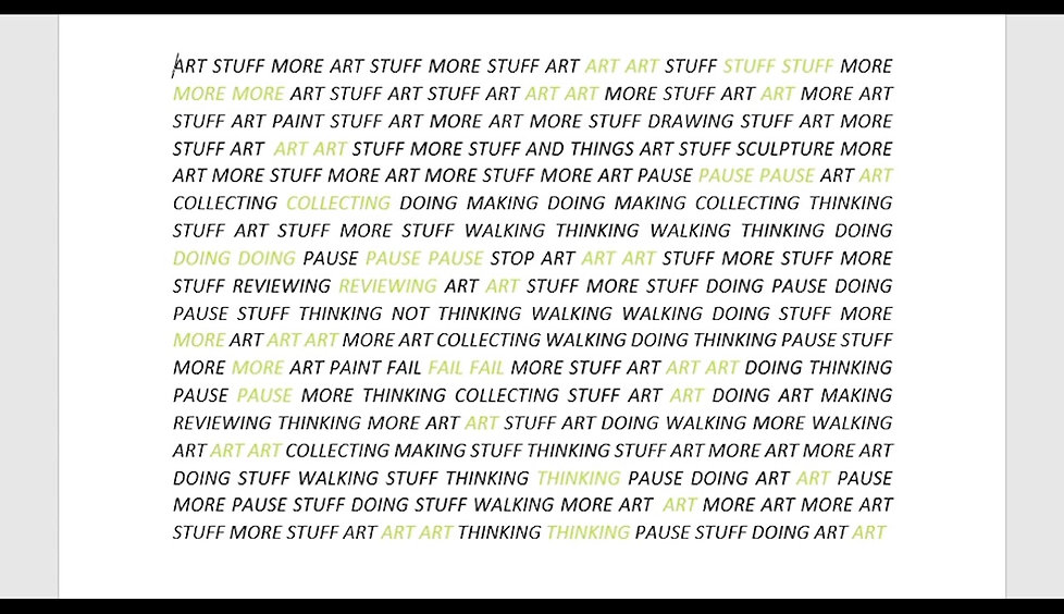 Art Stuff: The repetetive and robotic process of thinking