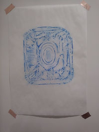 oil pastel on tracing paper size: A4