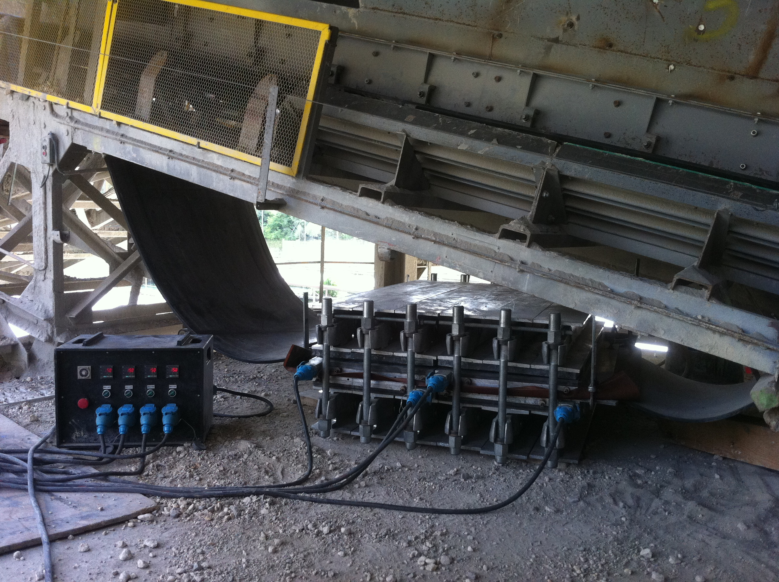 Vulcanisation bande larg 1000 mm