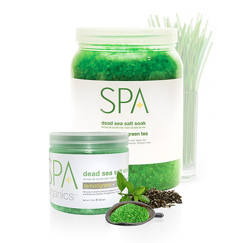 Dead Sea Salt Soak Lemongrass & Green Tea