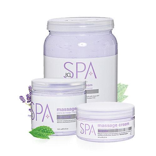 Massage Cream Lavender & Mint 8oz