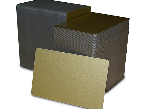Gold Metalic PVC Cards - Box of 500