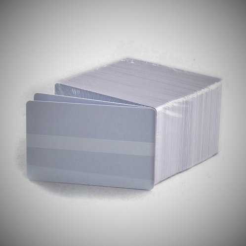 White PVC Cards - Box of 500 with Signature Panel