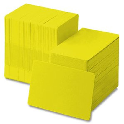 Yellow PVC Cards - Box of 500