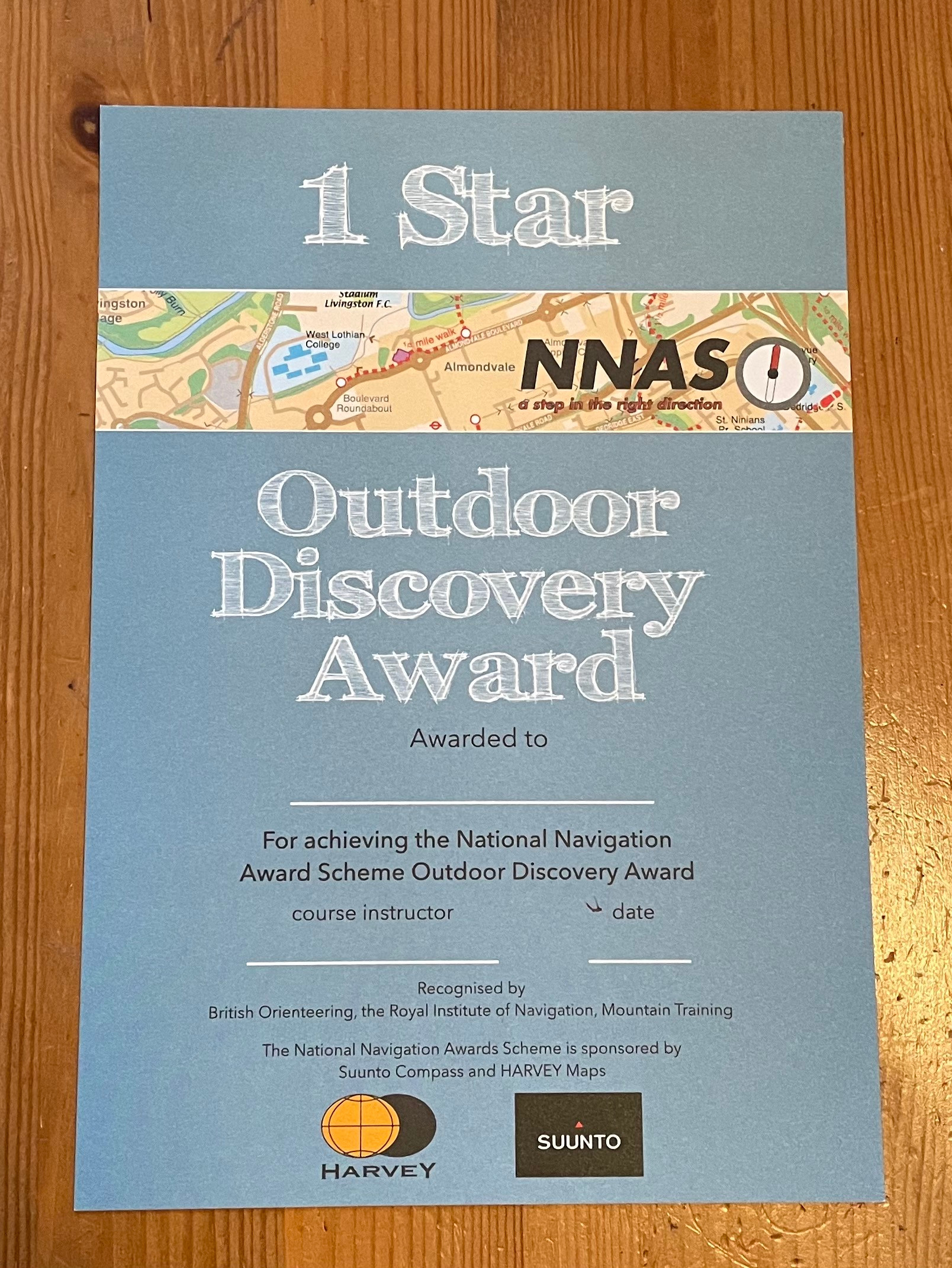 1x Group- Outdoor Discovery Award 1*