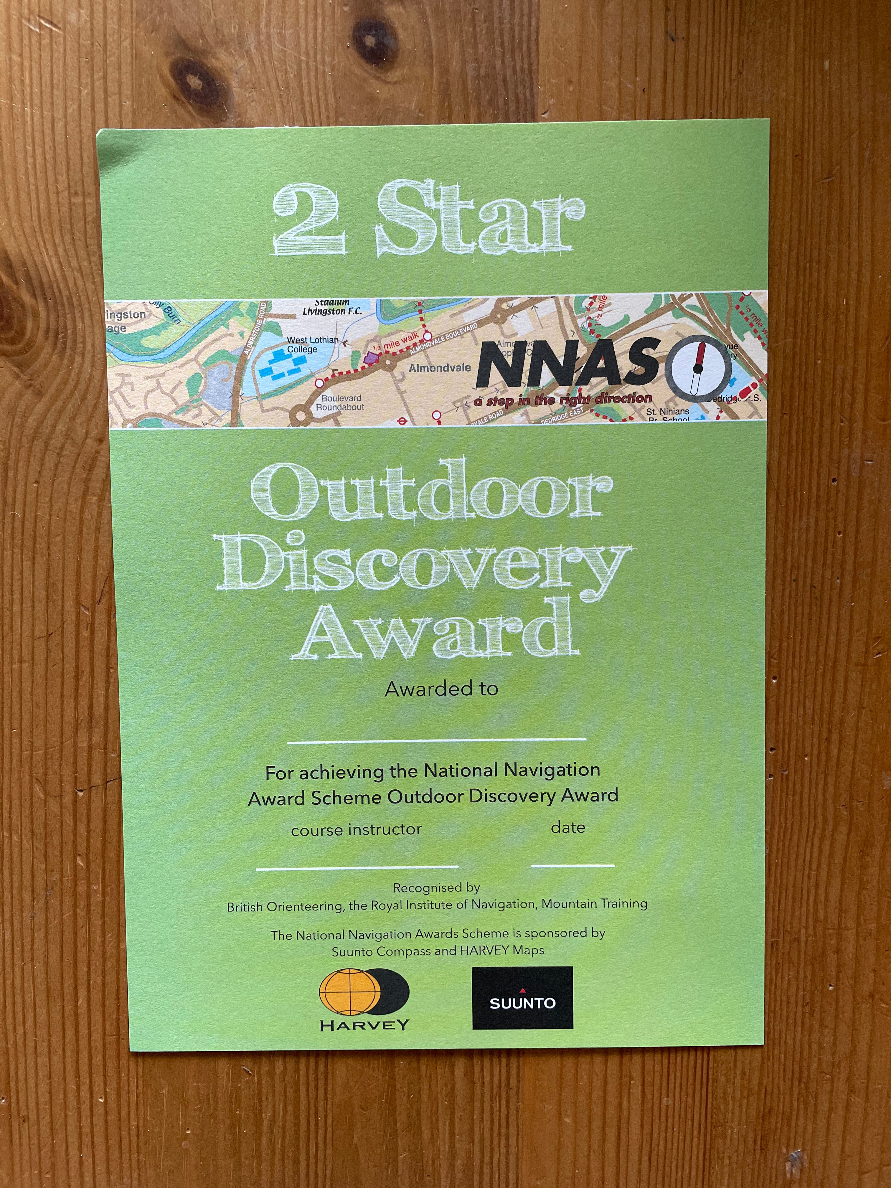 1x Group- Outdoor Discovery Award 2*