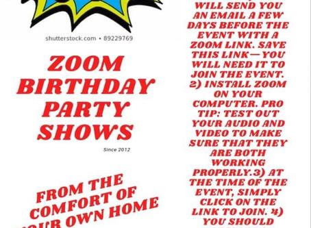 Zoom Birthday Parties - Adam Edgeley Magician