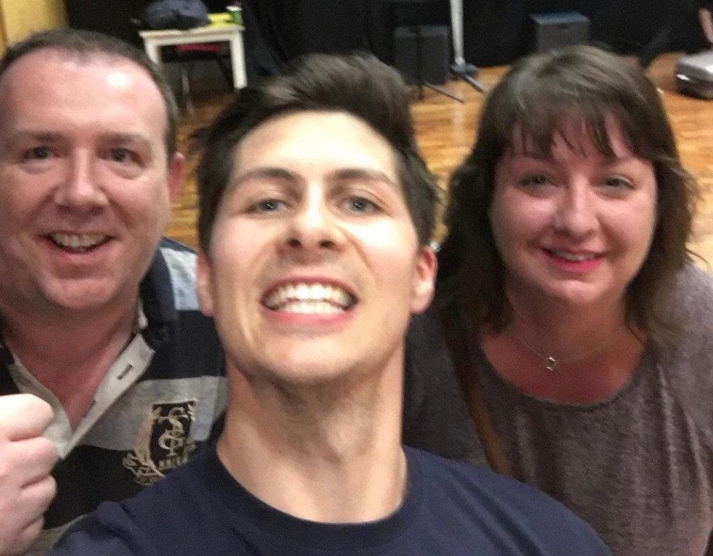 My wife and I with Ben   Quick selfie after a show