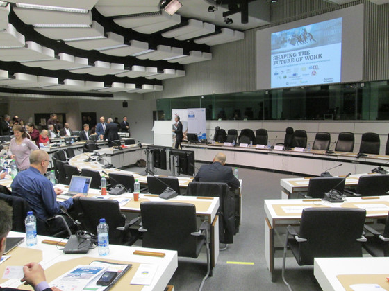 A Day in Brussels at the EU: Can we shape the future world of work, in an increasingly digital techn