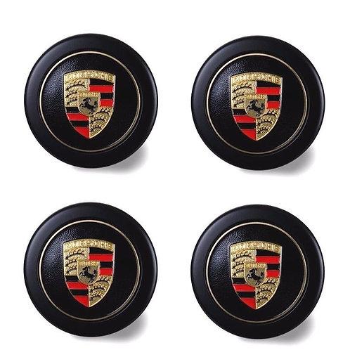 New Genuine Porsche Fuch Fuchs Colour Crested Alloy Wheel Centre Caps