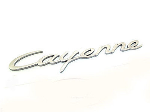 Porsche 958 'Cayenne' Scripted Badge in Chrome