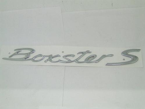 Porsche 986 987 Boxster S Boxter Chrome Rear Badge