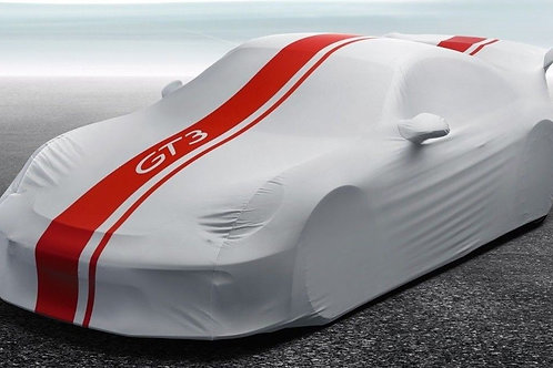 Porsche 991 GT3 Gen 2 Indoor Car Cover With Red Stripe