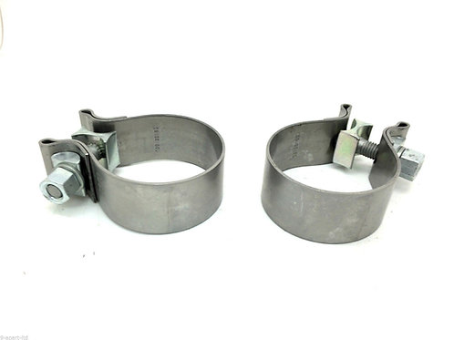 Porsche Cayman 987 Exhaust Tailpipe T Piece Clamps