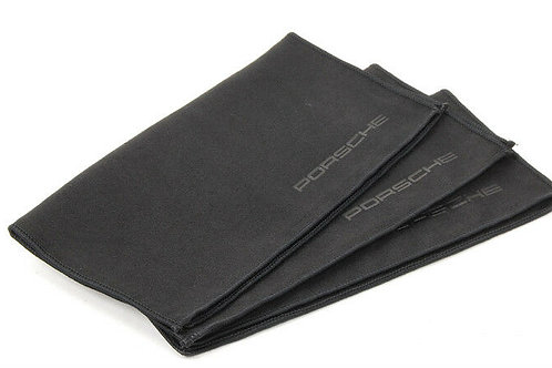 Genuine Porsche Tequipment Set of 3 Scripted Microfibre Cleaning Cloth's