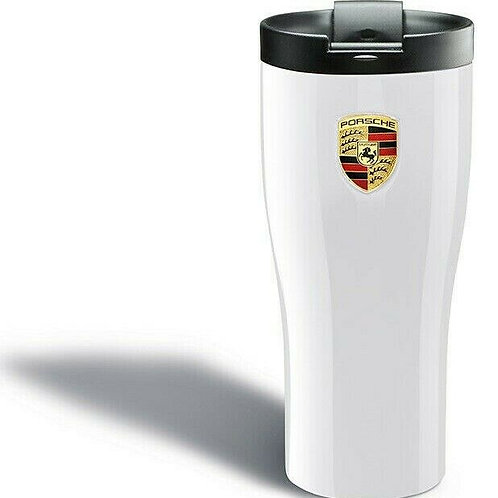 Genuine Porsche Drivers Selection Stainless Steel White Thermal Beaker