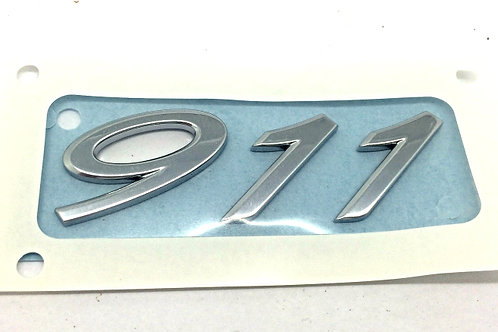 Porsche 911 Chrome Rear Badge - 85mm x 30mm