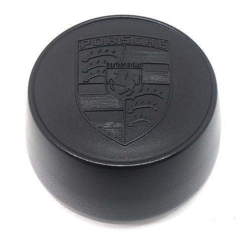 Porsche 924 Black Crested Alloy Wheel Centre Cap