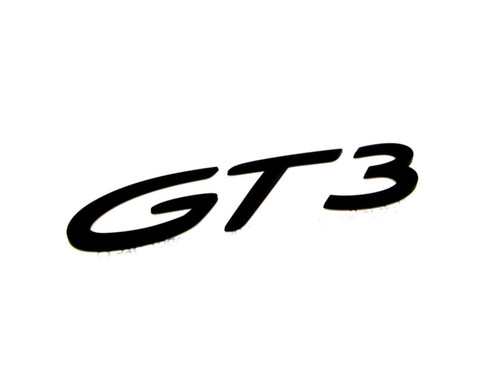Genuine Porsche GT3 Script Rear Badge