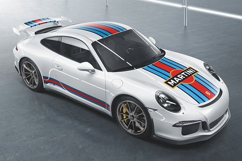 Martini Racing Design motor sports decorative sticker set