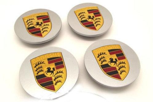 Genuine Porsche Colour Crested Wheel Centre Caps