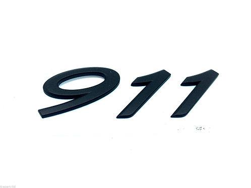 Porsche 911 Black Rear Badge 75mm x 24mm