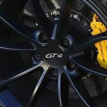 Genuine Porsche Cayman GT4 Matt Black Centre Caps