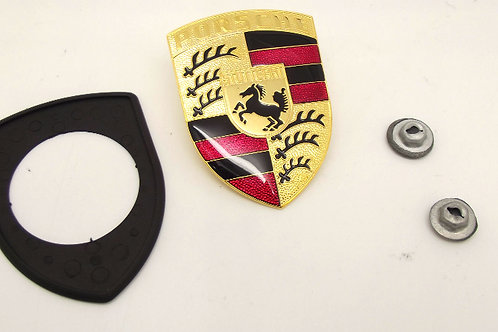 New Genuine Porsche Bonnet Badge Kit