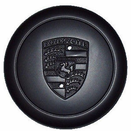 Porsche Fuch Fuchs Black Alloy Wheel Metal Centre Cap
