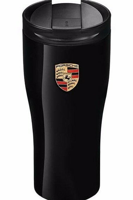 Genuine Porsche Drivers Selection Gloss Black Thermal Beaker