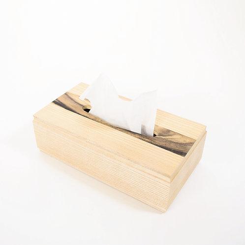 ティッシュケース(黒柿3)