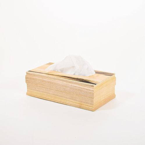 ティッシュケース(黒柿1)