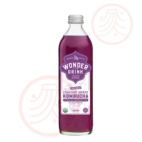 Sparkling Fermented Tea -Concord Grape (3 bottles)
