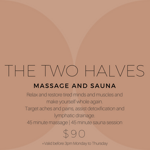 Game on! Massage and Sauna yes please!