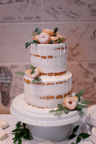 naked cake with donuts