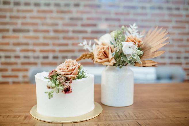 single tier fall cake