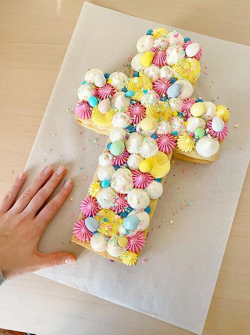 Cross Sugar Cookie Cake
