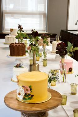 Custom cake dessert table