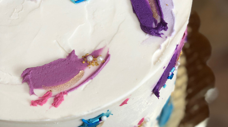abstract paint cake $65