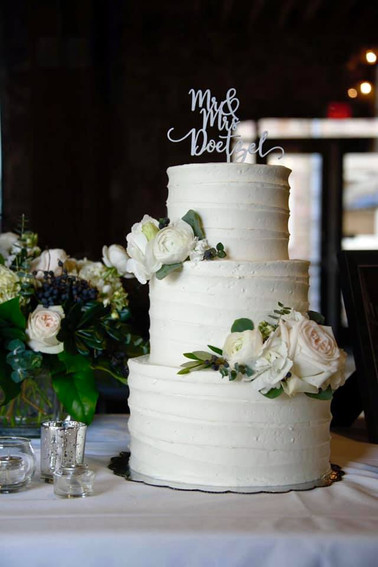 three tier cake with florals