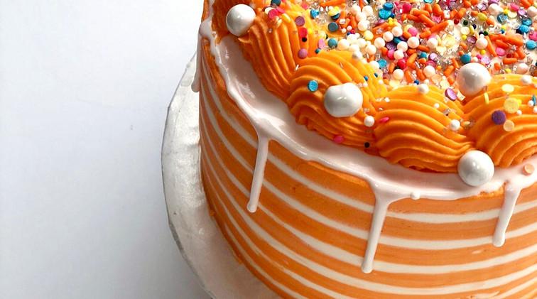 6 in orange stripe $50