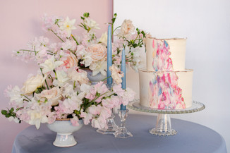 water color abstract wedding cake