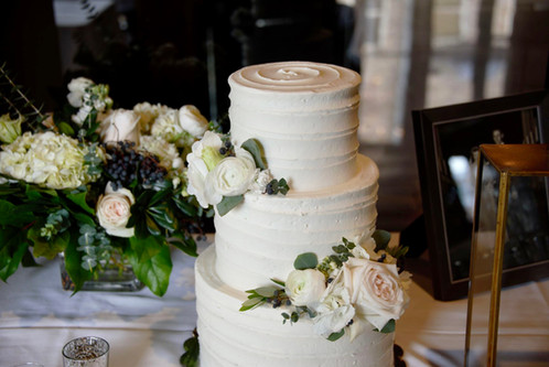 three tier with fresh florals