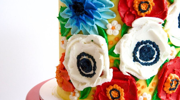 6 inch painted cake $75