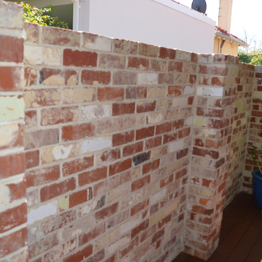 Re-claimed face brick work