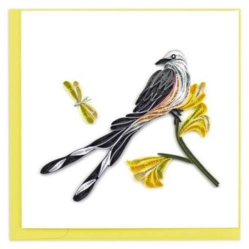 Scissored Tail Flycatcher Quilling Card